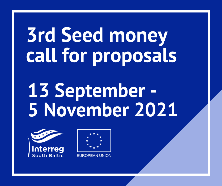 Interreg South Baltic Programme Seed money call for projects is open
